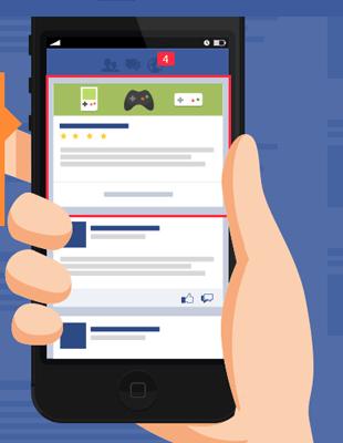 anúncios no celular facebook