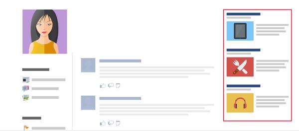anuncios na sidebar facebook