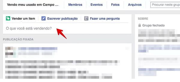 grupo do facebook anuncio