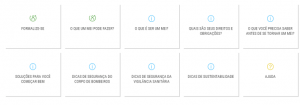 menu de navegação Portal do Empreendedor