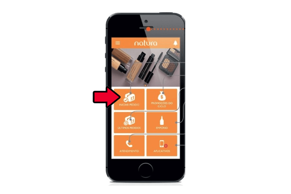 captação de pedidos natura app
