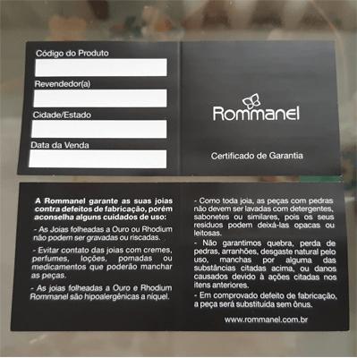 certificado de garantia rommanel
