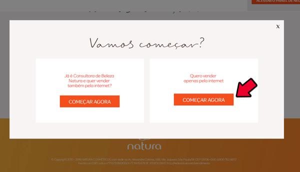 Natura Digital Cadastro