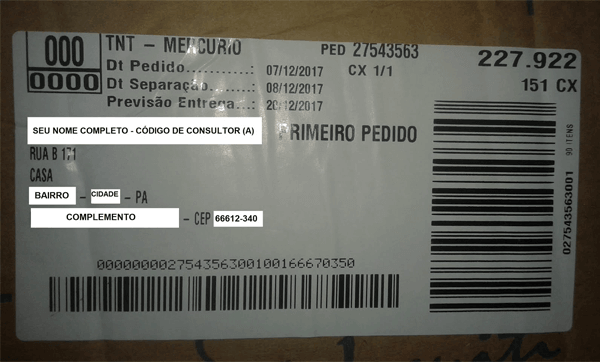 caixa kit inicial Jequiti