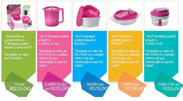 kit inicial tupperware