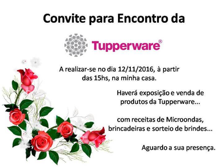 modelo convite tupperware