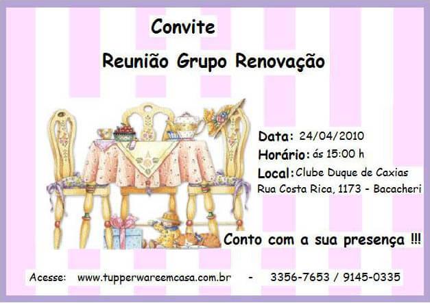 convite tupperware