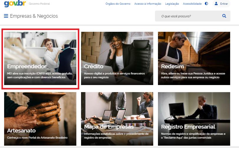 site empresas & negócios empreendedor